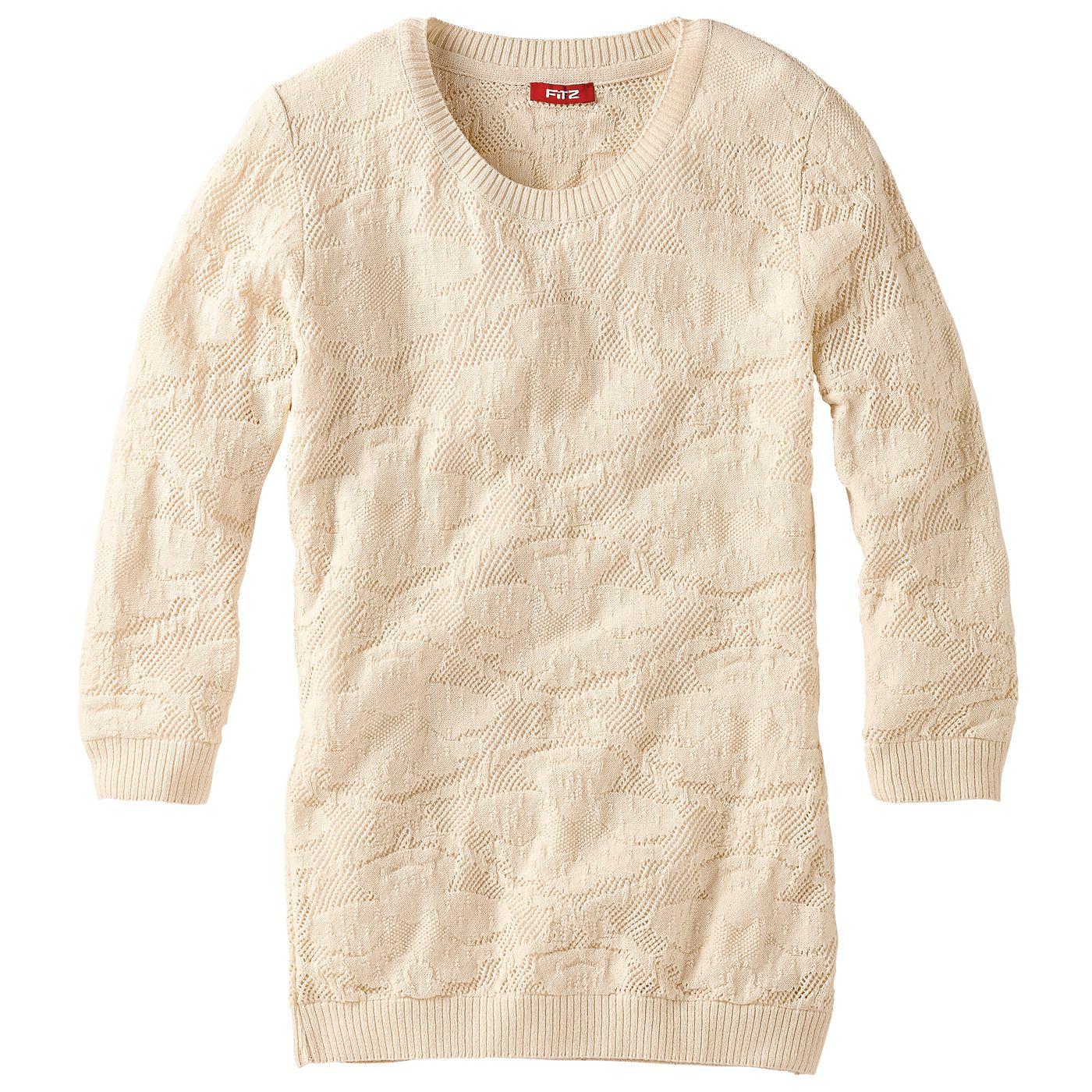 Девочки-пуловер жаккард FIT‑Z