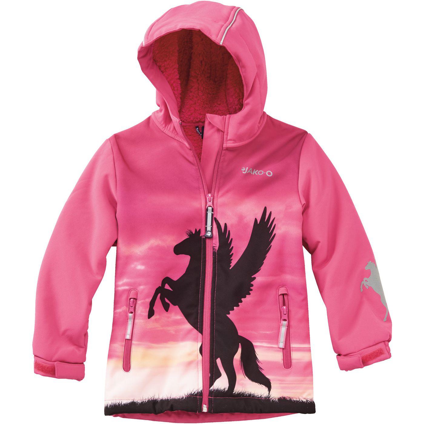 Девочка Softshell Куртка Лошадь