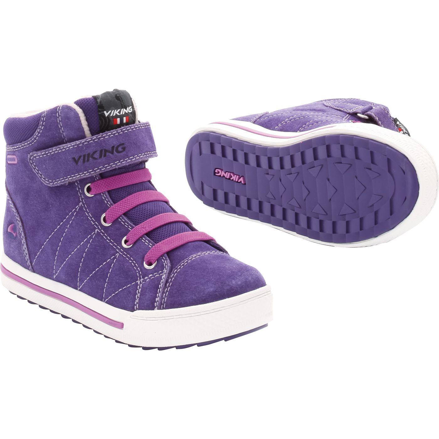 Viking детские лодыжки ботинок на подкладке, утепленные