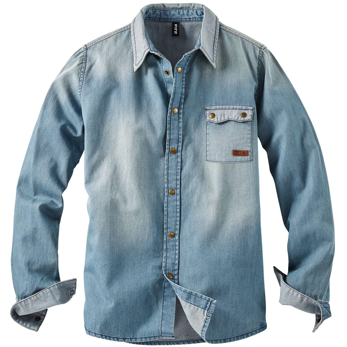 Мальчики джинсовая рубашка FIT‑Z