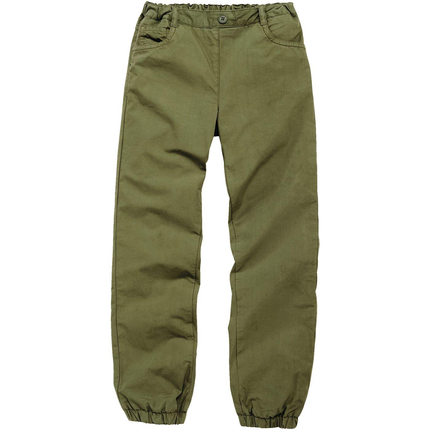 Девочки-поплин-брюки на подкладке