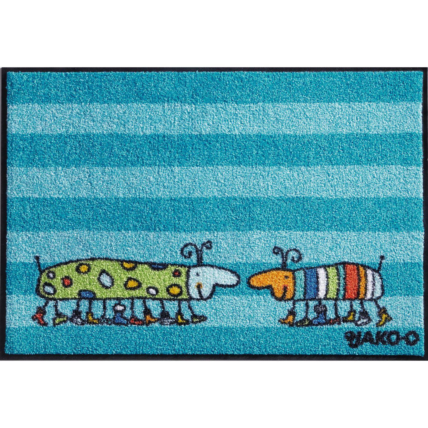Грязь ловить коврик с мотивом, не скользит (моющиеся)