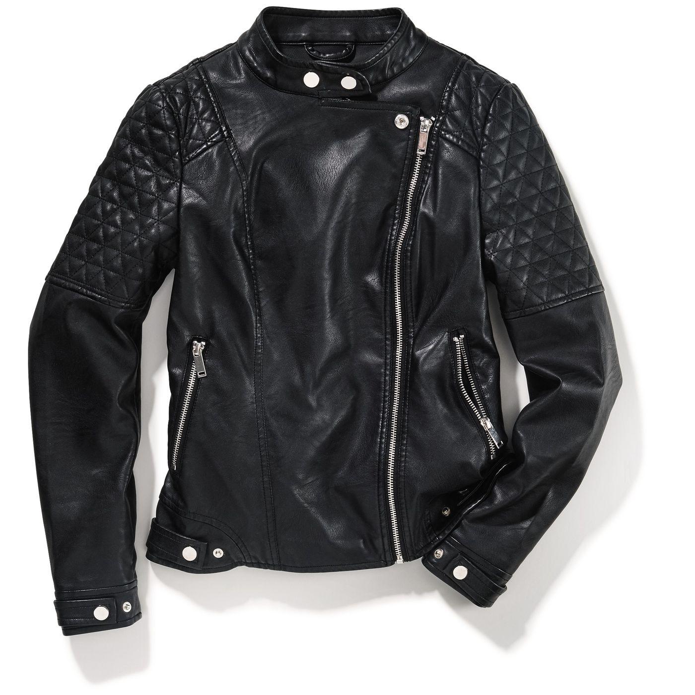 Девочки-куртка кожа-оптика FIT‑Z
