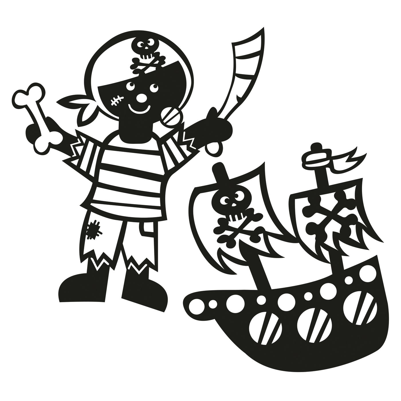 Sprühschablonen JAKO‑O, 2 шт