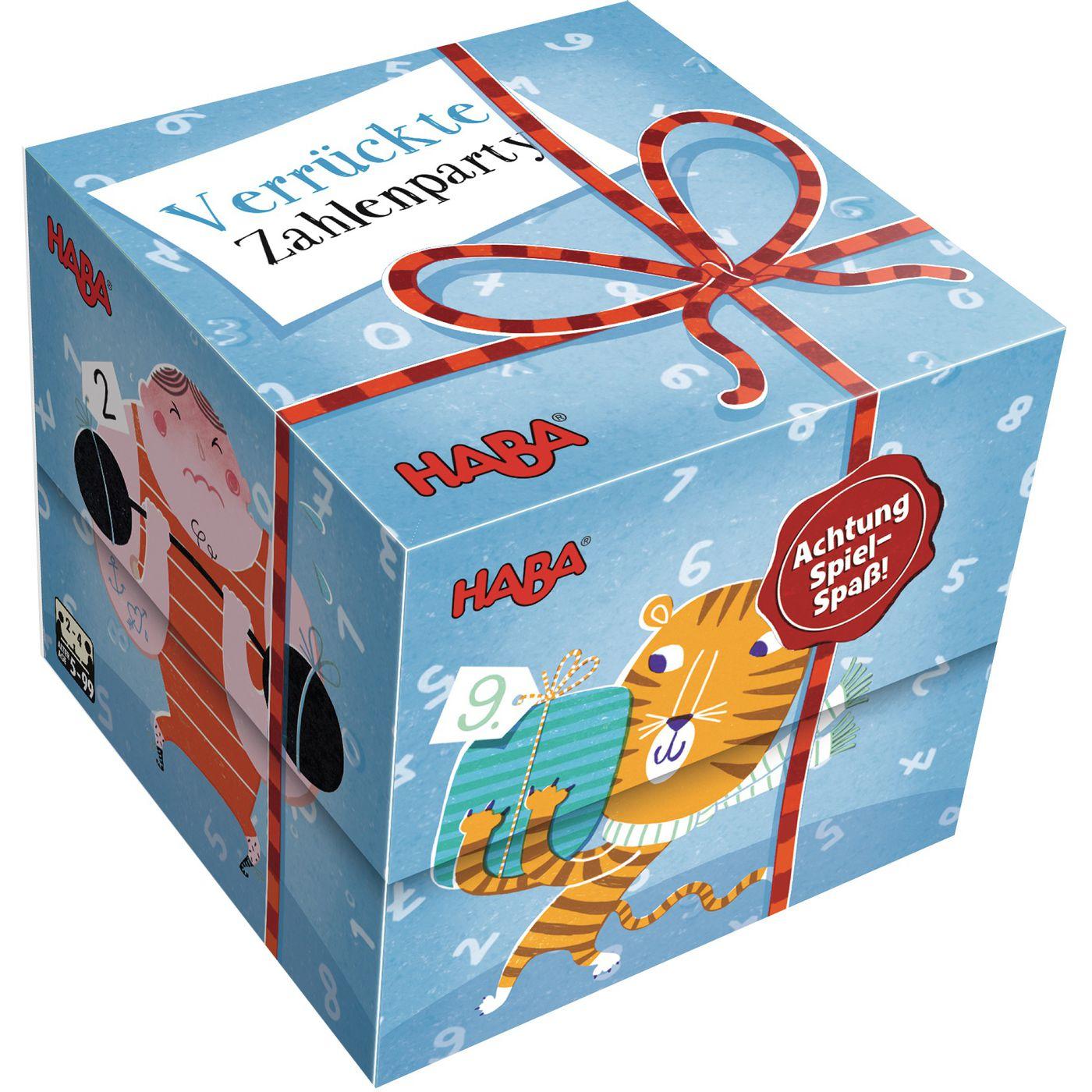 Подарок кубик - Сумасшедшие цифры HABA вечеринка 300608