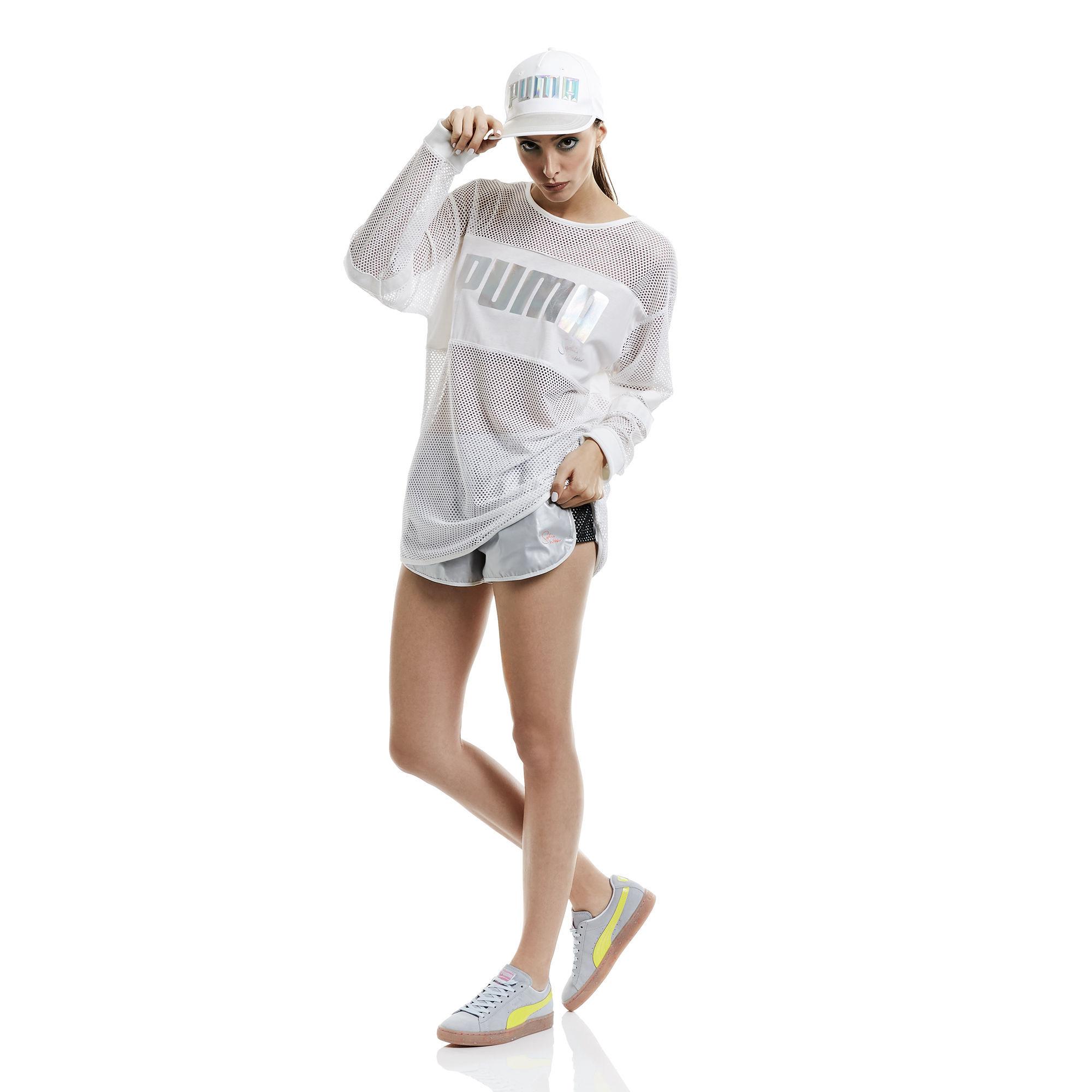 PUMA x СОФИЯ ВЕБСТЕР женская футболка с длинным рукавом из сетчатой ткани