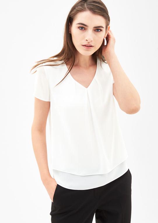 Шифоновая блузка с Расслоение