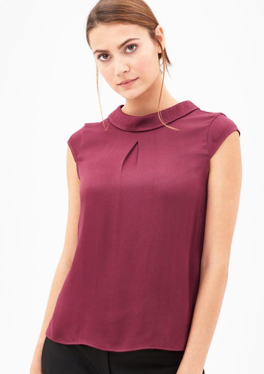 Блузка рубашка с воротником