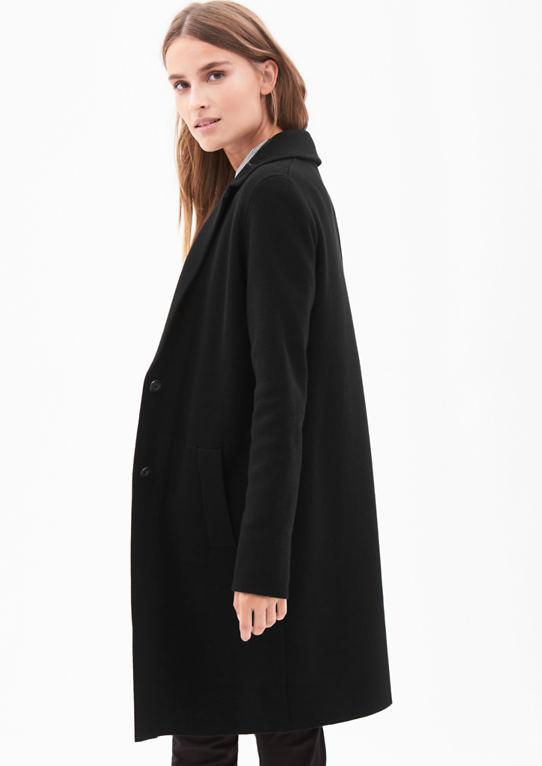 Вязание пальто с пуговицами