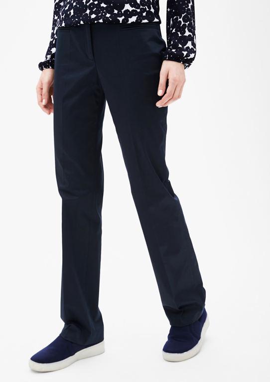 Slim: брюки из хлопкового атласа