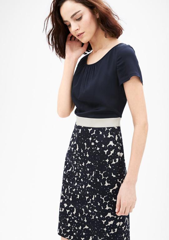 Бизнес-платья смешанная техника в