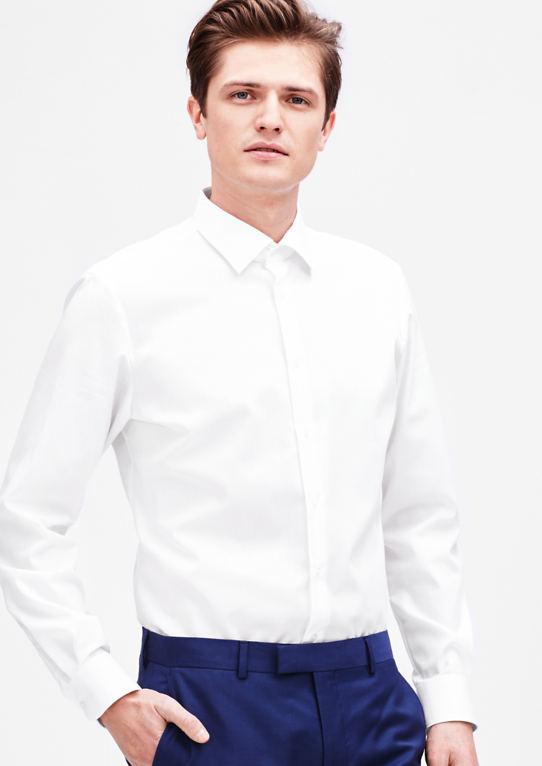 Modern Fit: Планки Хлопка Бесплатная Рубашка