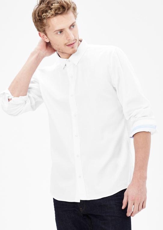 Slim: Укороченная Оксфорд Рубашка