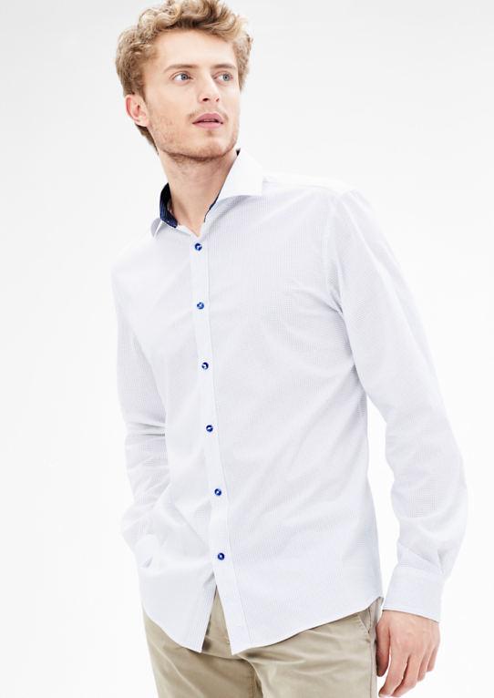 Modern Fit: стрейч-сорочка с контрастной отделкой