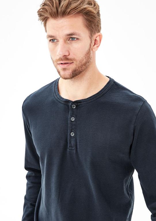Рипп-футболка с длинным рукавом в краске пигмента