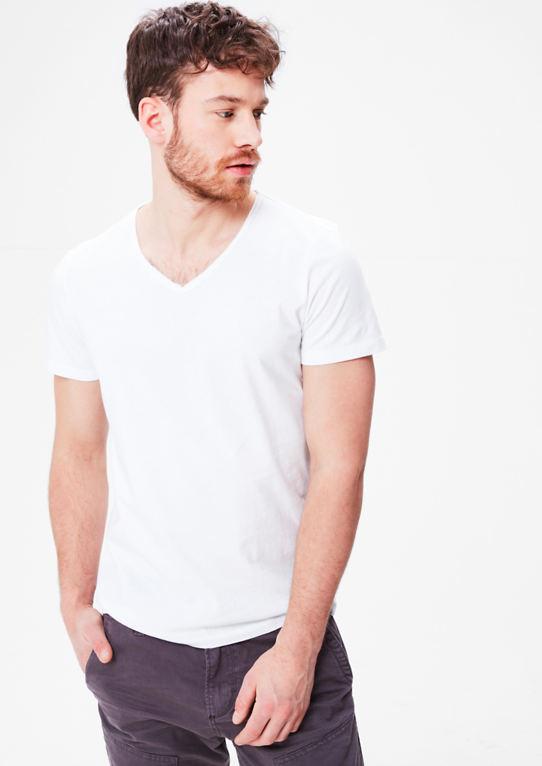 V-образным вырезом рубашка Джерси аус