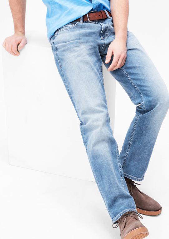 Scube Relaxed: Светлые джинсы с поясом