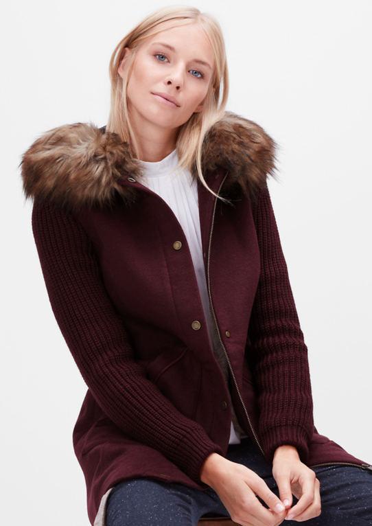 Короткое пальто из шерстяной смеси