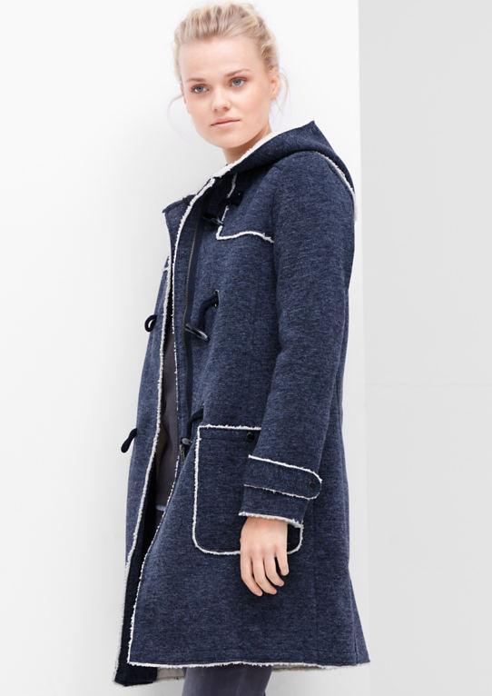 Melierter Sweat пальто с плюшевые