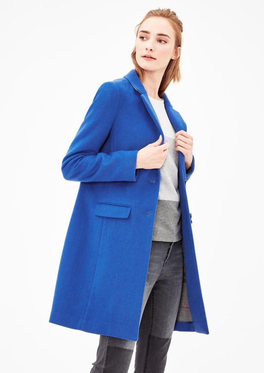 Классический Шерстяное Пальто