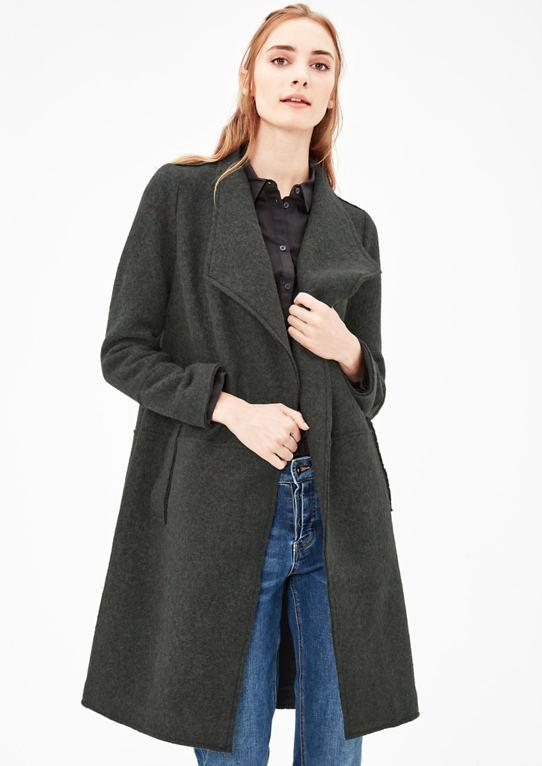Облегченное пальто из шерстяной флис
