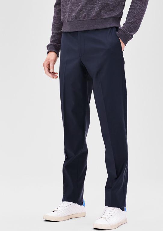 Slim: бизнес брюки шерсть с