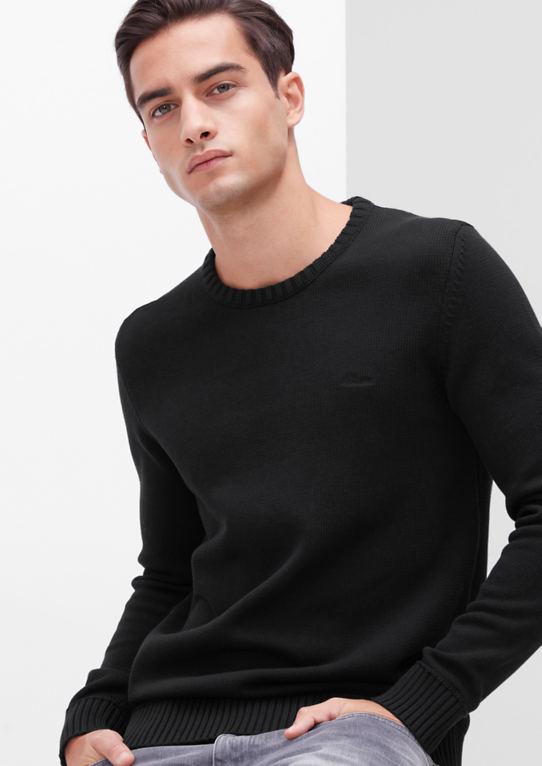 Хлопок свитер с манжетами