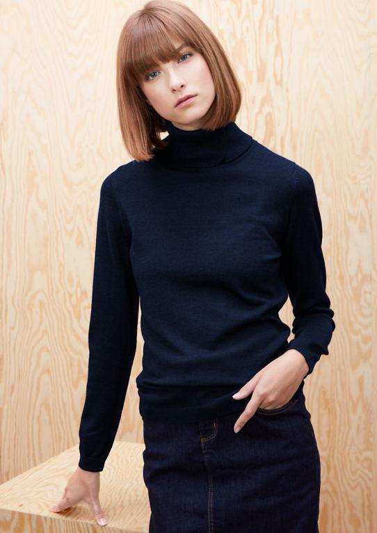 Мерино свитер с воротником