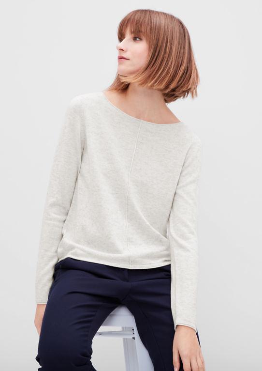 Пуловер с шелком и кашемиром