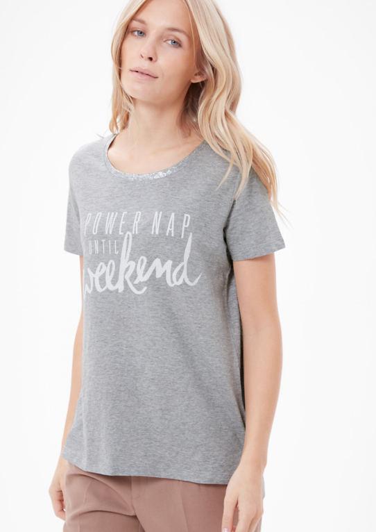Print рубашка с блестками воротник