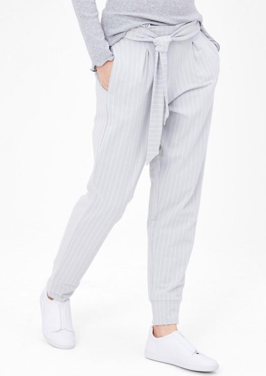 Sweat брюки с полоску