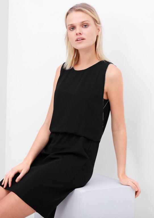 Платье в комбинации материалов