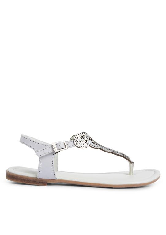 Этно-сандалии из кожи