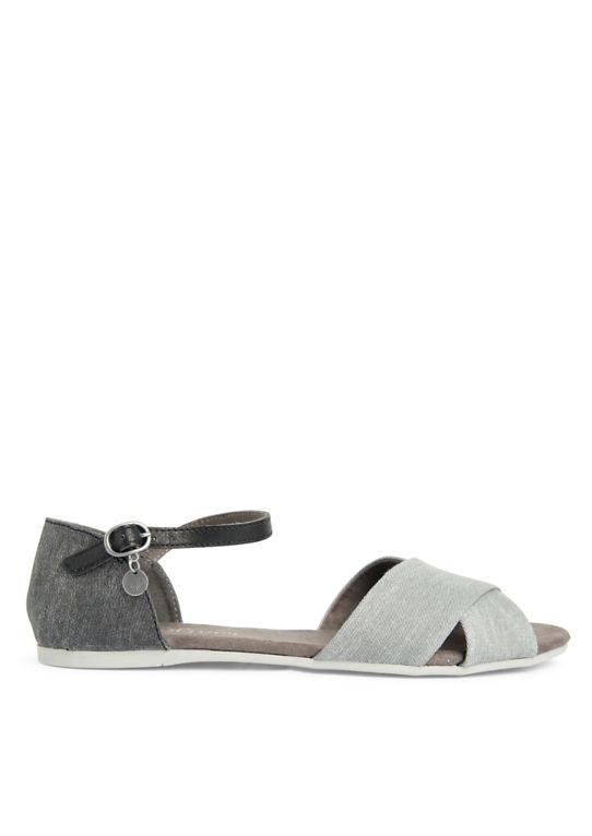 Плоские сандалии из текстиля