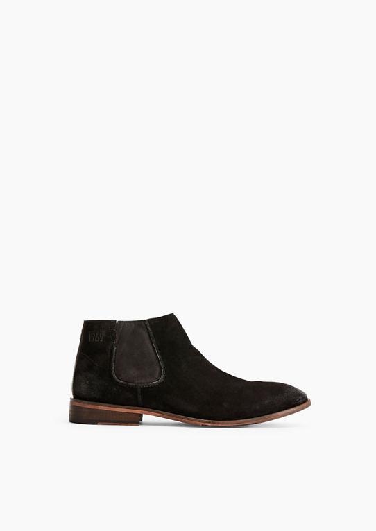 Челси-ботинки сталь aus Veloursleder