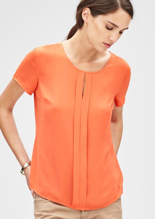 Креп блузка рубашка со складками деталь