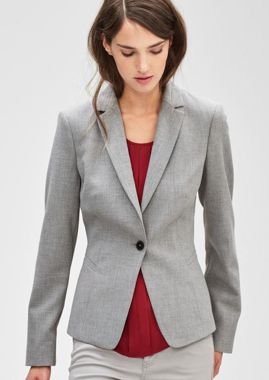 Melierter пиджак с одной кнопкой