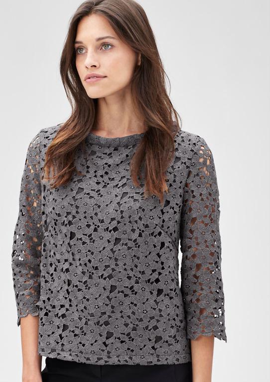 Блузка рубашка из кружева
