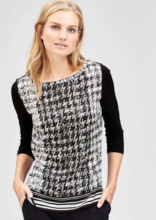 Блузка рубашка с ломаную клетку шаблон