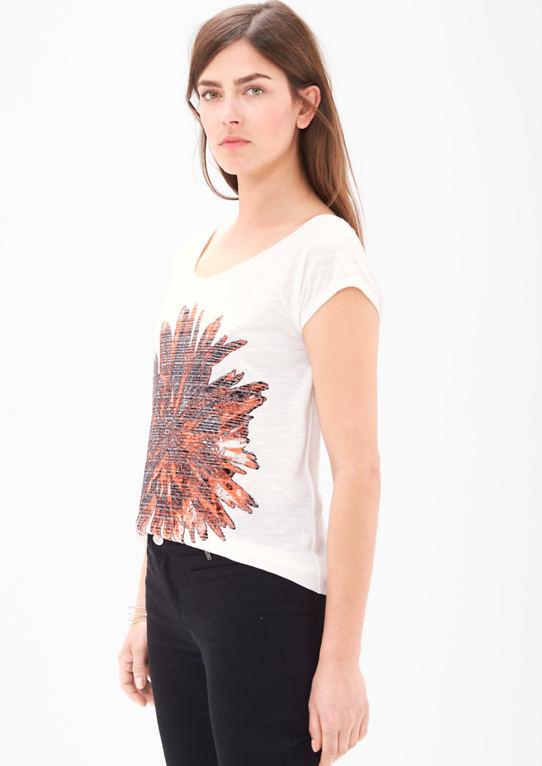 Flammgarn футболка с блестящим принтом