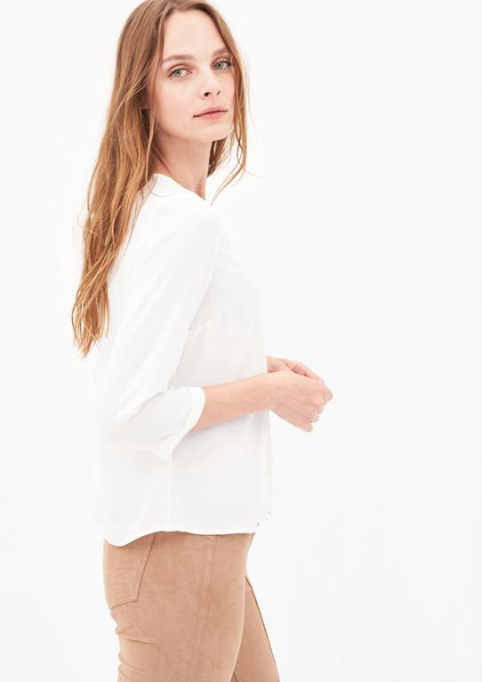 3/4-Arm блузка с защипами