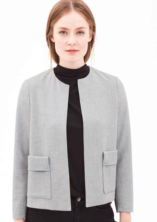 Пике-короткий пиджак в Boxy стиль