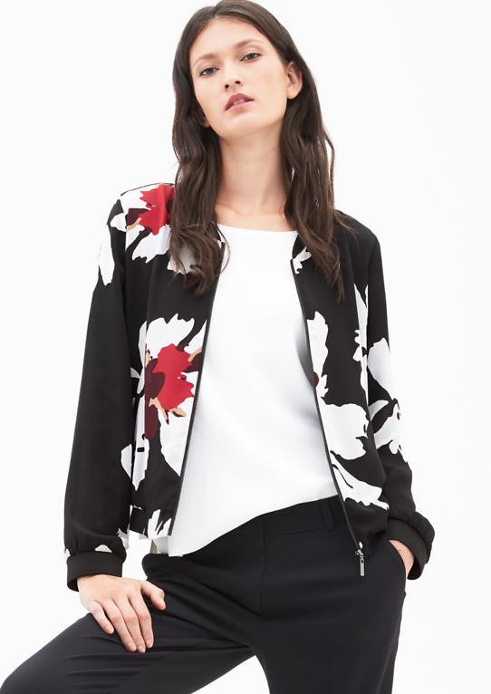 Креп-Куртка mit Print
