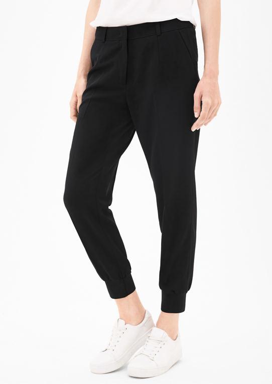 Голеностопный ткани брюки с манжетами