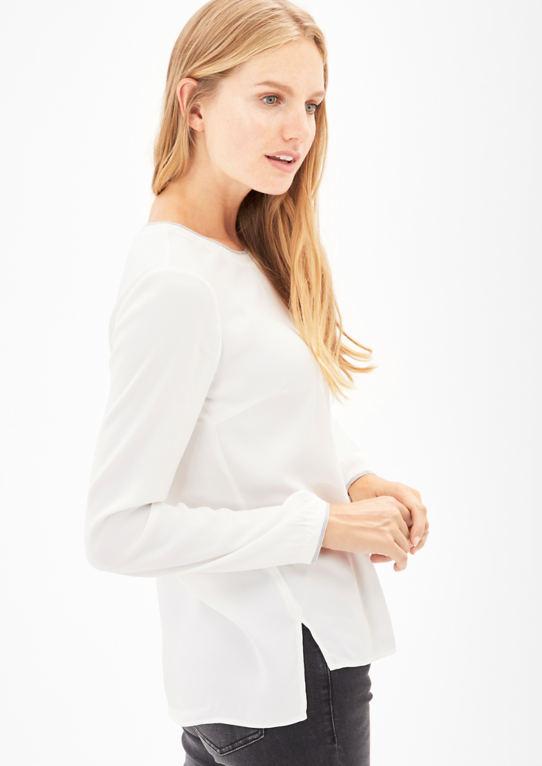 Атласная блузка с блеском детали