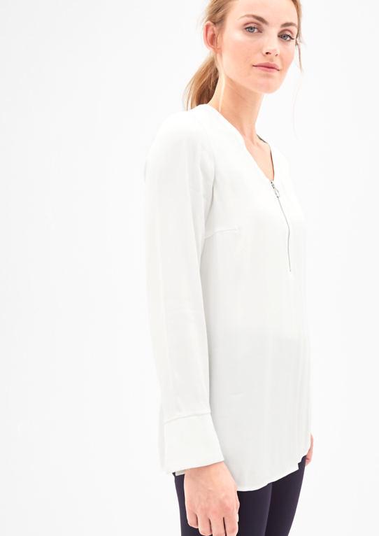 Блуза с застежкой-молнией подробно