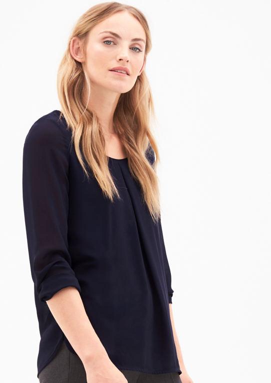 Layer-Bluse aus Ткань