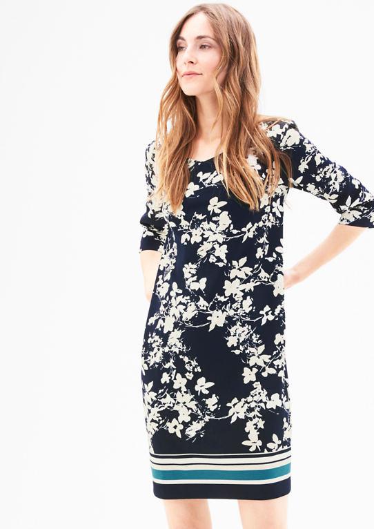 Креп-платье с цветочным узором