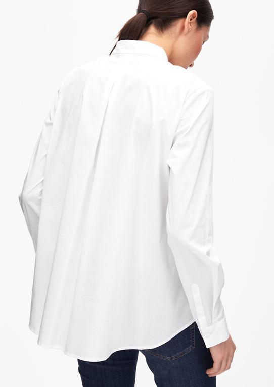 Поплин-блузка с бантовой складкой
