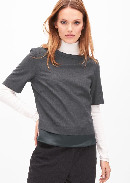 Фланель блузка с Layer-оптика